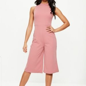Misguided Rose Culotte Jumpsuit